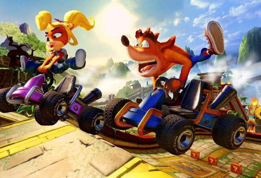 Crash Team Racing rodando no PS4 e PS4 PRO